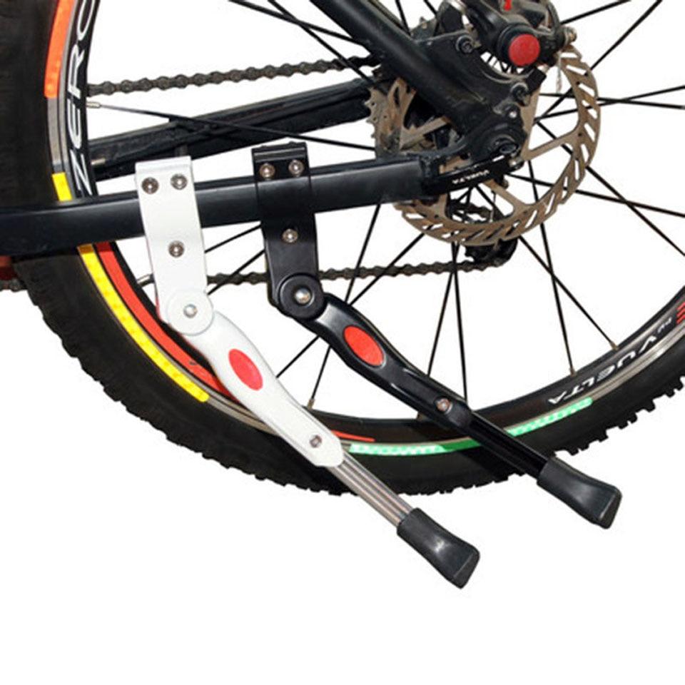 1Pcs שחור/לבן מתכוונן MTB כביש אופניים Kickstand חניה הרים מתלה אופני תמיכת עמדת בעיטת צד רגל סד