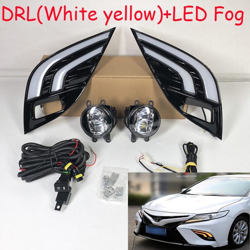 Vídeo dinámico LED, 2018 2019 luz diurna Camry, Aurion lámpara antiniebla, accesorios para coche, vios, altis, luz trasera camry