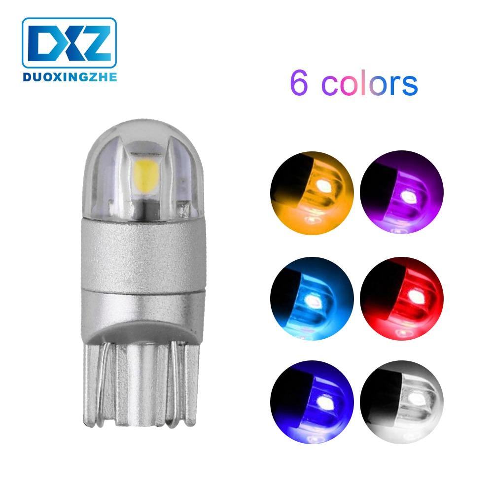 DXZ 1 Uds T10 LED w5w 194 168 12V canbus luz interior del coche 3030 2SMD bombilla de estacionamiento cuña de Auto lectura lámpara azul hielo 12V