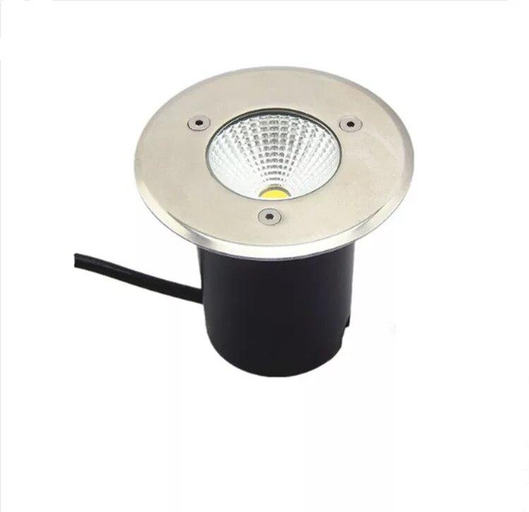 Envío Gratis AC110V 220V IP65 5W 10W blanco frío cálido lámpara empotrada iluminación exterior COB LED lámpara subterránea