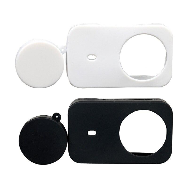 Capa macia de silicone com capa de lente protetora para xiaomi mijia câmera 4 k