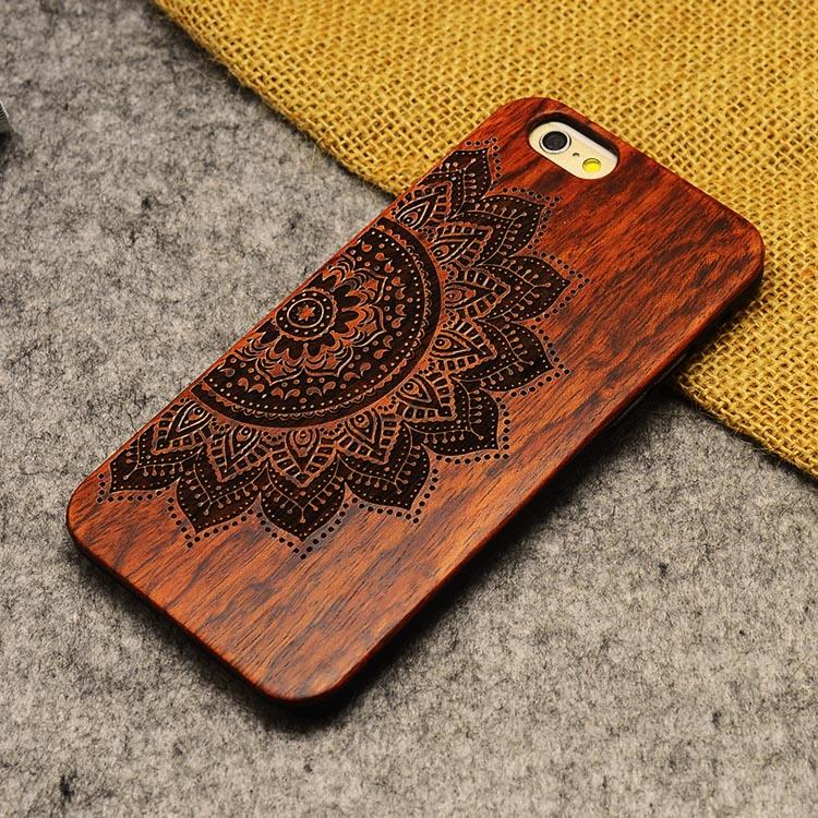 U & i marka cienki luksusowe natural wood telefon case for iphone 5 5s 6 6 s 6 plus 6 s plus 7 7 plus pokrywa drewniane wysokiej jakości, odporna na wstrząsy 20