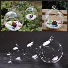 Vase de fleurs Transparent 3 tailles   Boule transparente, Vase suspendu, Terrarium conteneur, décalcomanie de maison, Pots de fleurs transparents, panier de jardinières