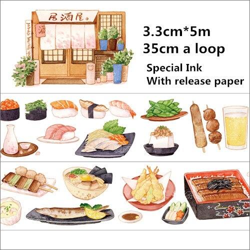 Special Ink 33mm*5m Japanese Izakaya decoration washi tape DIY planner scrapbooking masking tape With release paper