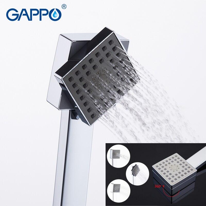 Gappo Топ специальный Ванная комната Душ массажер спа хромированная насадка ABS водосберегающая душевая головка alcachofa de la ducha GA35