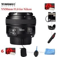 IN STOCK  YONGNUO YN 50mm f1 8 AF Lens YN50mm Aperture Auto Focus Large Aperture for Nikon DSLR Camera D800 D300 D700 Lens