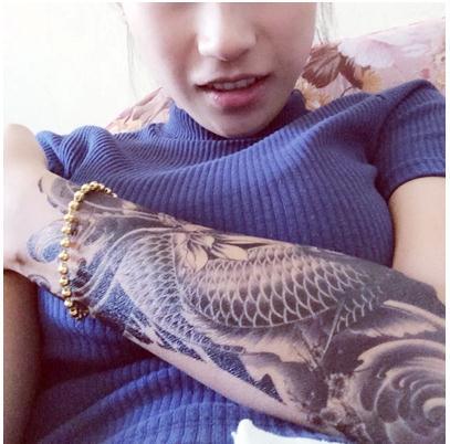 3D водонепроницаемые временные экзотические тату наклейки Сексуальная Восточная Карп Красота Макияж Боди-арт