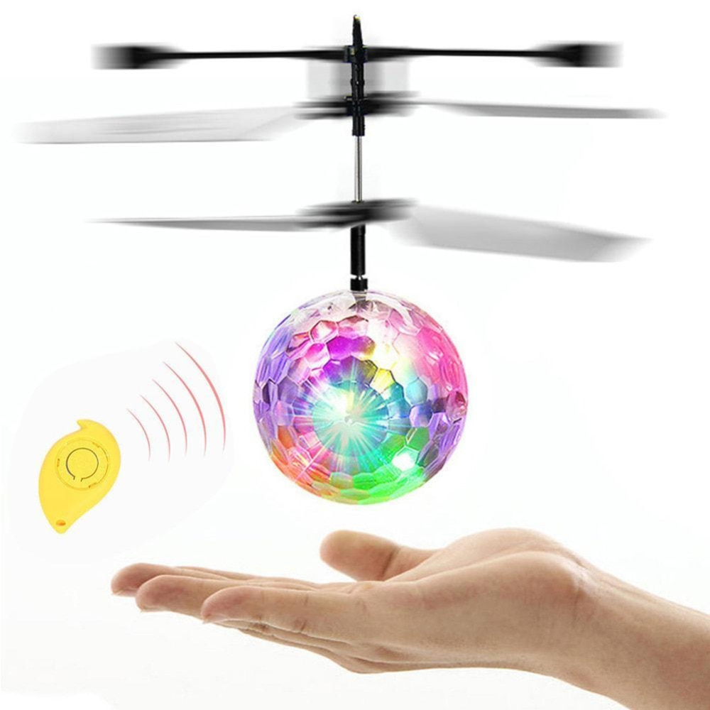 colorful mini drone shinning led rc drone flying ball helicopter light crystal ball induction dron quadcopter aircraft kids toys 10 Pcs/pack Colorful RC Flying Ball Built-in Shinning LED Light RC Novelty Anti-stress Flying Toys Drone Helicopter Ball for Kid