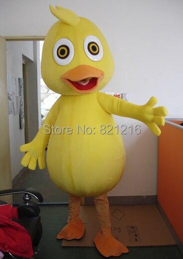 Yellow Duck Mascot Costume Cartoon Character Mascotte Mascota Outfit Suit Free Shipping