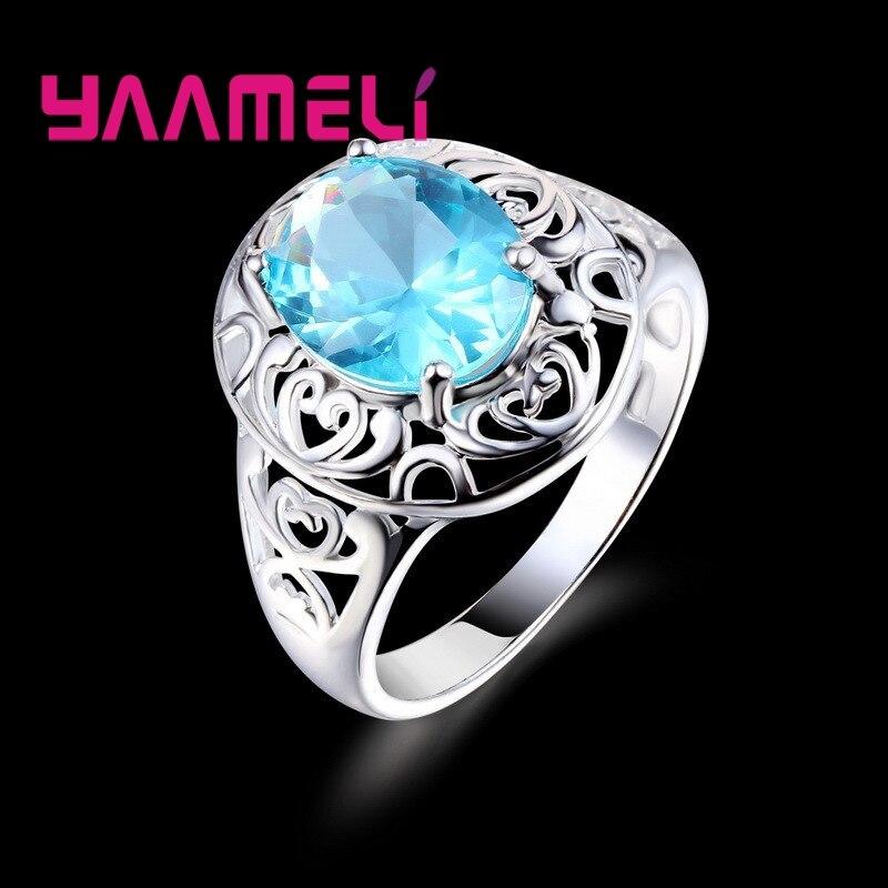Бренд-925-пробы-Серебряное-кольцо-Роскошный-таинственный-стиль-полое-моделирование-с-Морской-голубой-кристалл-камень-для-женщин