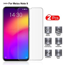 2PCS Tempered Glass Meizu Note 9 Screen Protector 9H Phone Explosion-proof Protective Glass Cover Ca