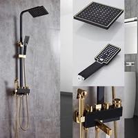 shower faucet bathtub faucet sets bathroom luxury black golden shower mixer with bidet shower antique gold shower set bathroom