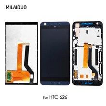 Pantalla LCD para HTC Desire 626 626N 626G 626H D626X LCD Digitalizador de pantalla táctil montaje completo reemplazo negro No/con marco