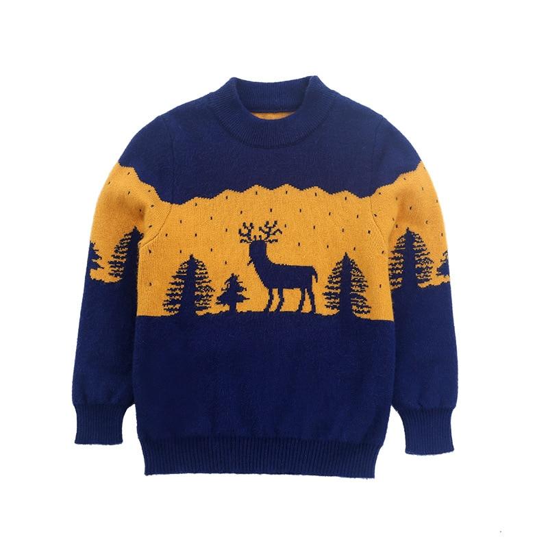 Детский мягкий кашемировый свитер теплый шерстяной пуловер для мальчиков
