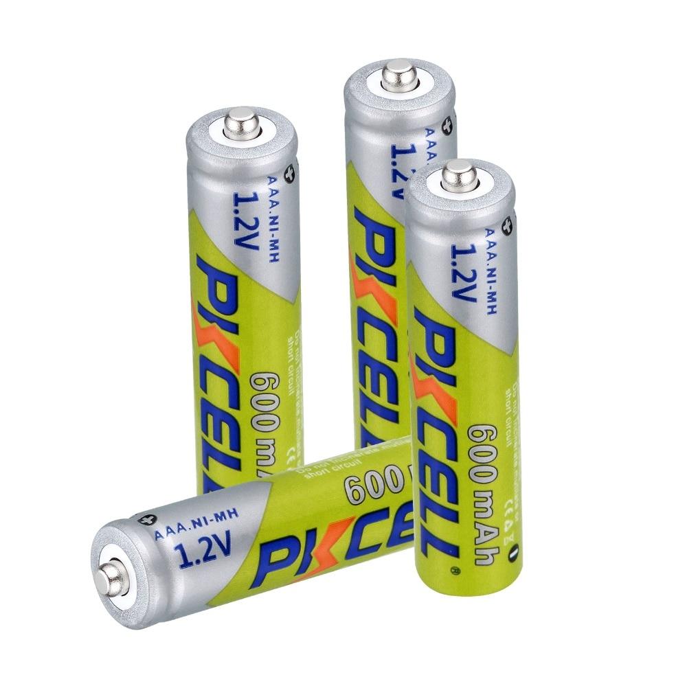4 ~ 32 Uds Pkcell 1,2 V AAA 600mAh 3A Ni-MH batería recargable para linterna de juguete RC