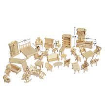 1 Набор = 34 шт., AIBOULLY кукольный домик, кукольная мебель, мозаика, весы, Миниатюрные модели, набор аксессуаров DIY
