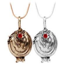 Nouveau Vampire Diaries collier Elena Gilbert rétro Verveine Verveine Photo pendentif médaillon hommes & femmes bijoux