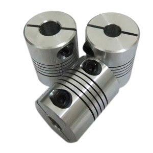 5 PCS/LOT Flex Clamp Shaft Coupling 6.35mm to 12mm Flexible Shaft Coupler 6.35*12mm Connector Diameter 25mm Length 30mm