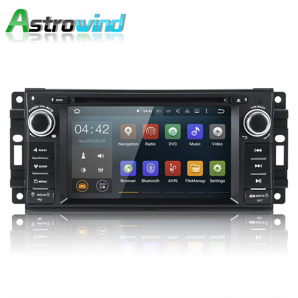 Sistema Android 7.1 2G RAM Car DVD Player GPS de Navegação Estéreo sistema de Mídia de Rádio para Chrysler Sebring 300C Cirrus Dodge Jeep