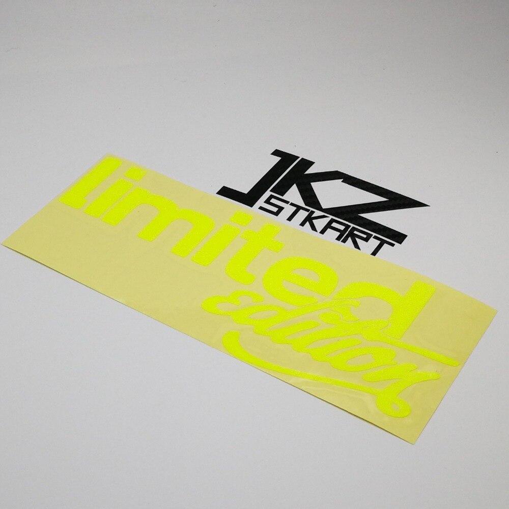 JKZ STKART Vinyl Die Cut Car Sticker Decal Limited Edition B 18 x 7 cm for Motor Bike Laptop Helmet Decorated Stickers