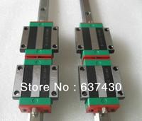 1pcs HIWIN HGR45 L600mm +2pcs HGW45CA flanged block bearing