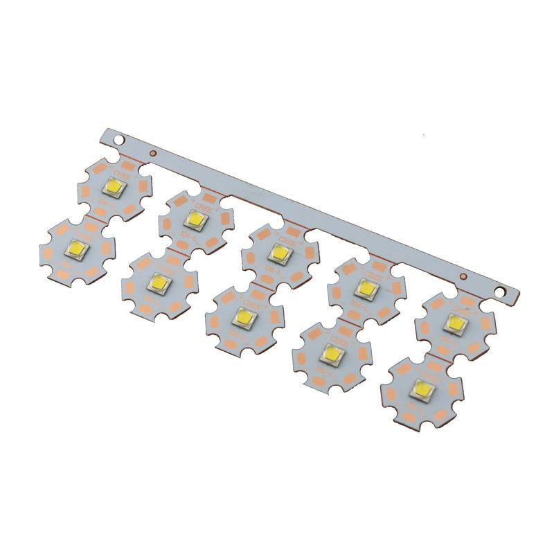 10 Uds CREE 10W Led XML2 U3 blanco cálido 3000K/blanco neutro 5000K/blanco frío 6500K 20mm estrella cobre PCB