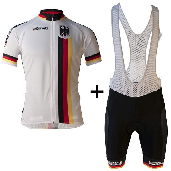 Ropa de Ciclismo para hombre, equipo alemán, Jersey profesional de verano para Ciclismo