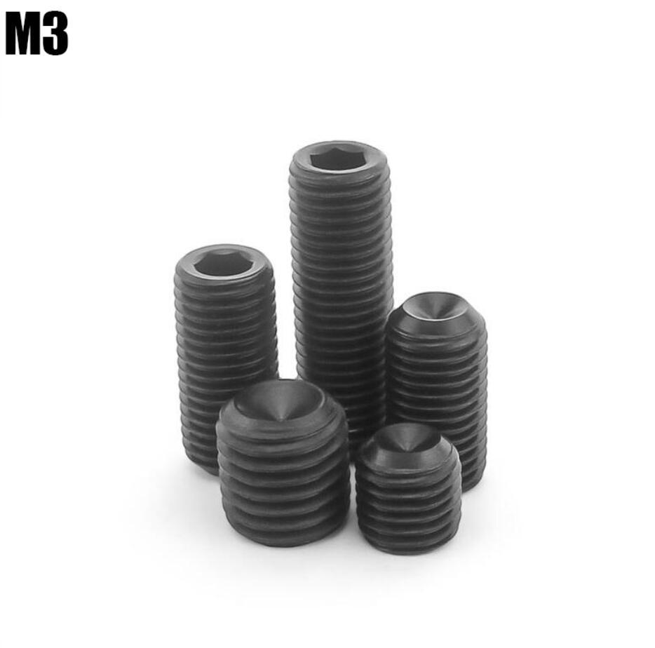 Tornillos de acero al carbono M3 Jimi tornillo interior sin cabeza tornillo de seis ángulos remache M3
