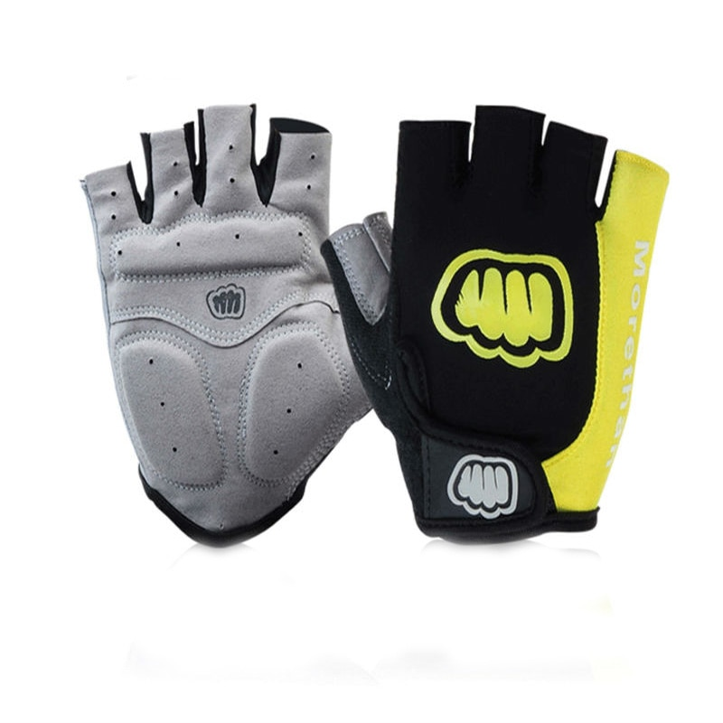 MOREOK Half Finger SBR Padded Shockproof  Breathable Lycra Road Bike Bicycle MTB Cycling Gloves for Men Women