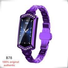 B78 스마트 시계 여성 피트니스 팔찌 심박수 혈압 모니터링 트래커 숙녀 스마트 시계 안드로이드 IOS 애플