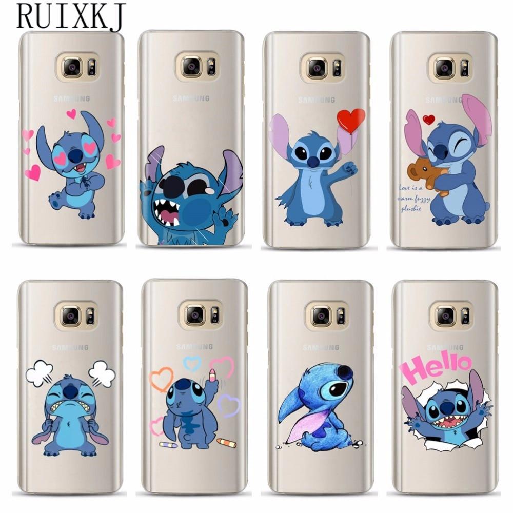 Funny Stitch Case For Coque Samsung Galaxy Grand Prime S6 S7 Edge S8 S9 Plus J3 J5 J7 A3 A5 A7 2016 2017 A8 2018 Plus Soft Cover