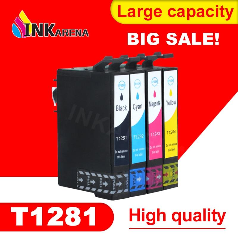 4 шт. для Epson T1281 T1282 T1283 T1284 чернильный картридж для EPSON stylus SX125 SX235W SX435W SX425W BX305F BX305FW принтер полные чернила