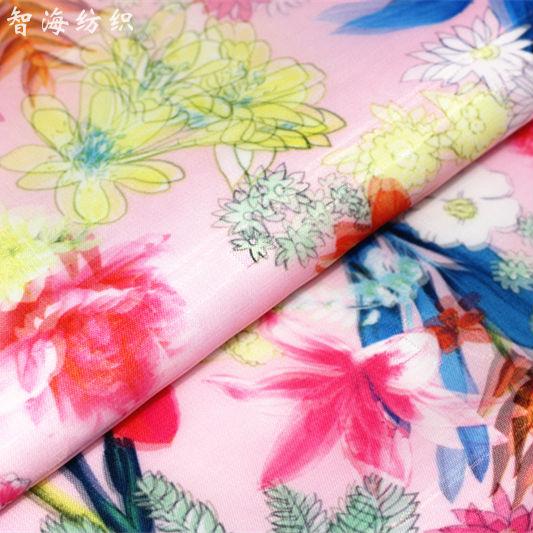 El estilo de Corea del Sur falda de pengpeng de fibra de poliéster con impresión 3D de doble cubierta, vestido, Falda corta, tela de moda, correo.