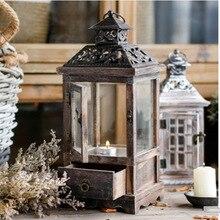 Lanterne chandelier style Vintage   Modèle cadeau de noël, bon marché, bougeoir, porte-bougie de maison, cadeaux de mariage, décoration du nouvel an, artisanat