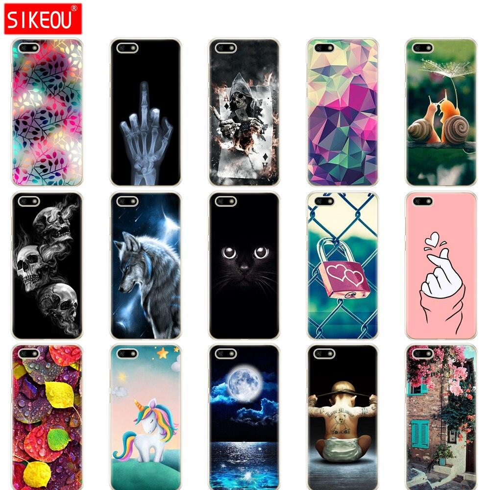 Силиконовый чехол для Huawei Honor 7A, чехол 5,45 дюйма, мягкий Tpu телефон Huawei Honor 7A 7 A DUA L22, русская версия, задняя крышка, сумка, кошка