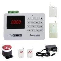 Systeme dalarme de securite domestique sans fil  GSM SMS  detecteur de mouvement PIR  detecteur de fumee  capteur de porte magnetique  sirene