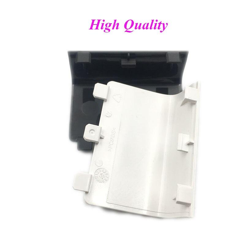 100 قطعة غطاء البطارية الأسود الباب ل XBox One وحدة تحكم لاسلكية أسود الجانب غطاء غطاء