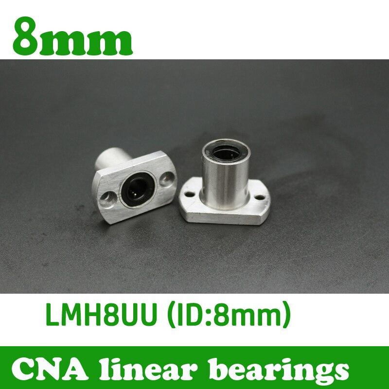 2 pçs/lote Frete grátis LMH8UU 8mm flange rolamento linear CNC Linear de Bush LMH8