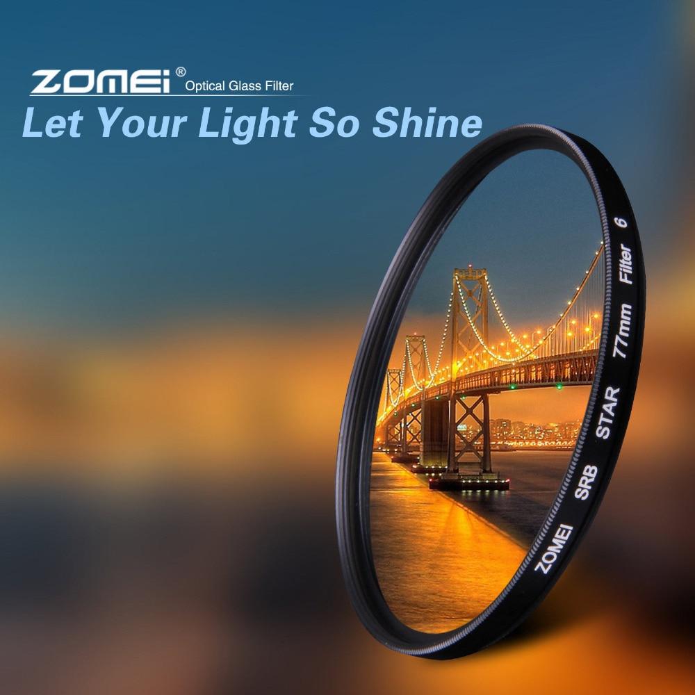 Фильтр ZOMEI Star + 4 точки + 6 точек + 8 точек для объектива камеры Canon Nikon DSLR 52/55/58/62/67/72/77 мм