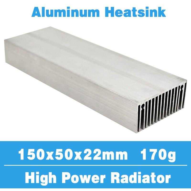 Радиатор 150x50, алюминиевый радиатор, охлаждающий кулер, светодиодный транзистор IC, модуль питания, ПБК, рассеивание тепла светодиодный светодиодного чипа