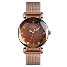 SKMEi Fashion Casual Women Watches Ladies Quartz Watch Stainless Steel Wristband Waterproof Quartz Women's watch 9188