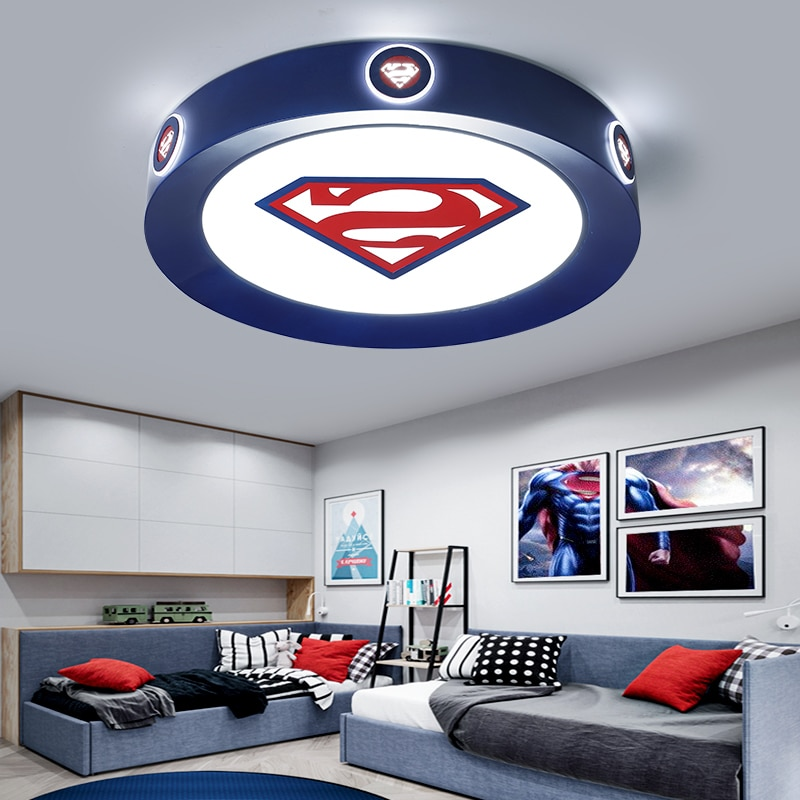 Modern led ceiling light  children room pink blue round lightis for kids baby bedroom home lighting decorative ceiling lamp