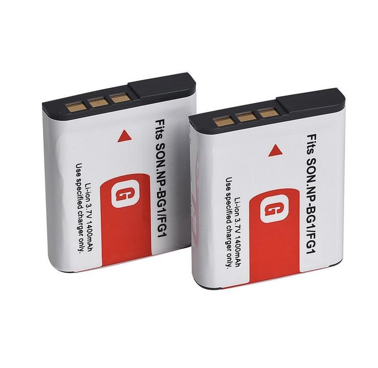Baterías GTF para Sony Np Bg1, batería de 1400mAh, NP-BG1 para SONY Cyber-Shot DSC-H3 DSC-H7 DSC-H9 DSC-H10 DSC-H20 DSC-H50