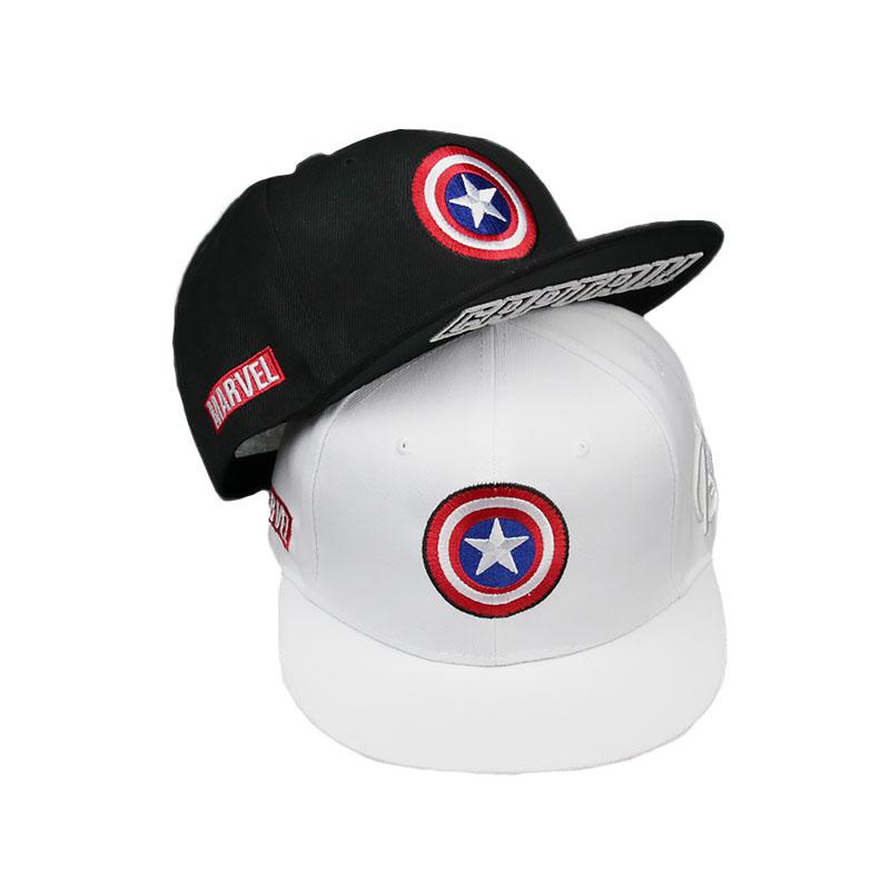 Gorra de béisbol de algodón de superhéroe Capitán América, gorras de Sol de Hip Hop para hombre y mujer, gorras Snapback de estrella de cinco puntas