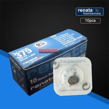 10pack renata Silver Oxide Watch Battery 379 SR521SW 521 1.55V renata 521 Bottun Cell Batteries