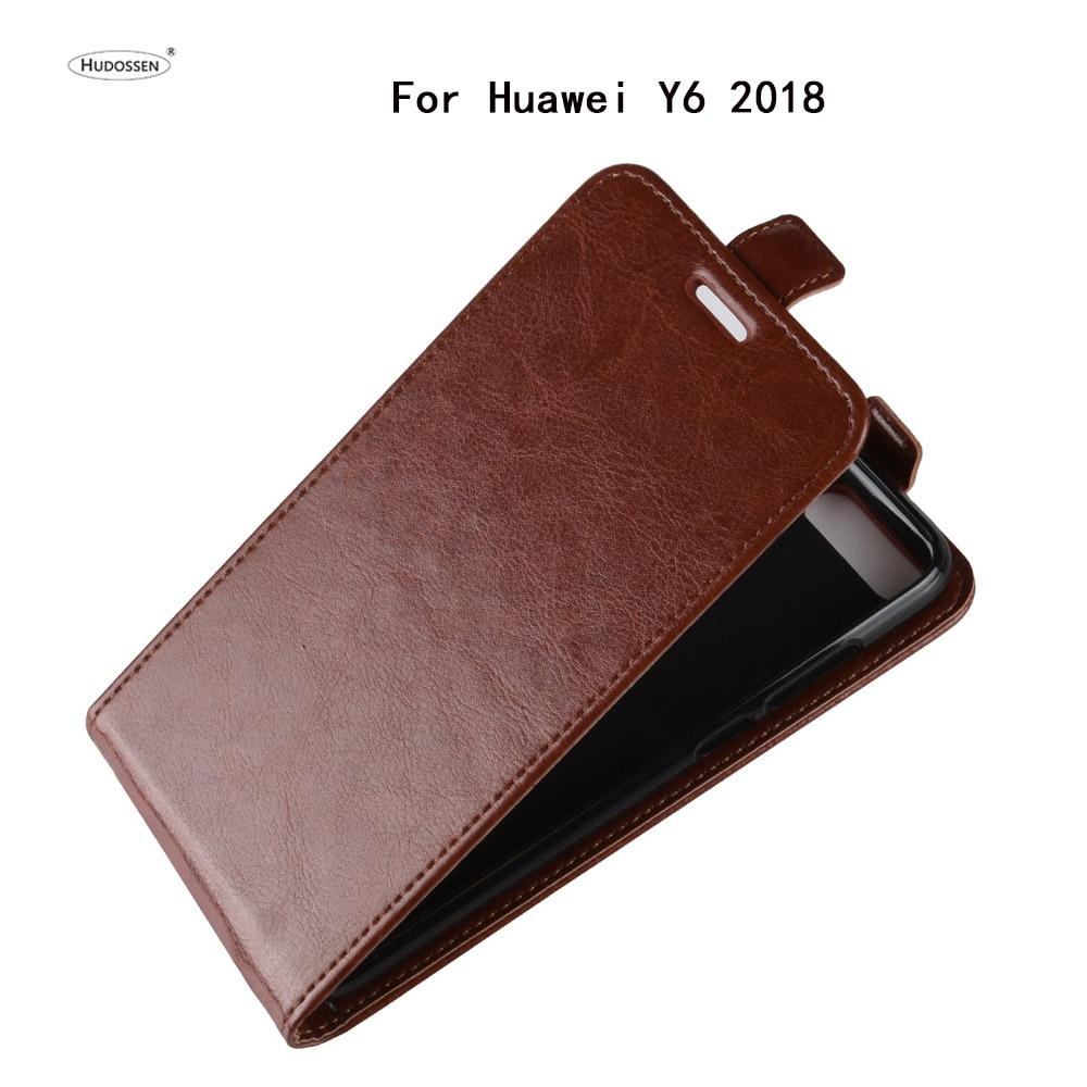 HUDOSSEN para Huawei Y6 2018 ATU-LX3 ATU-L11 ATU-L21 ATU-L22 caso de lujo Flip funda trasera de cuero PU funda del teléfono para Huawei Y6 2018