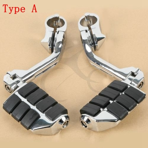 Chrome Highway Foot Pegs Footrest 1 1/4 Engine Guard Mounts Clamps For Honda Yamaha Suzuki Kawasaki Harley Electra Road Glide motorcycle engine guard mounts clamps adjustable highway pegs mount 1 1 4 footrest pedal for harley honda yamaha suzuki