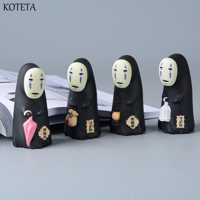 Koteta Studio Ghibli en espíritu vinilo figura de acción Miyazaki Hayao Anime no cara de hombre modelo muñeca juguetes para niños de regalo