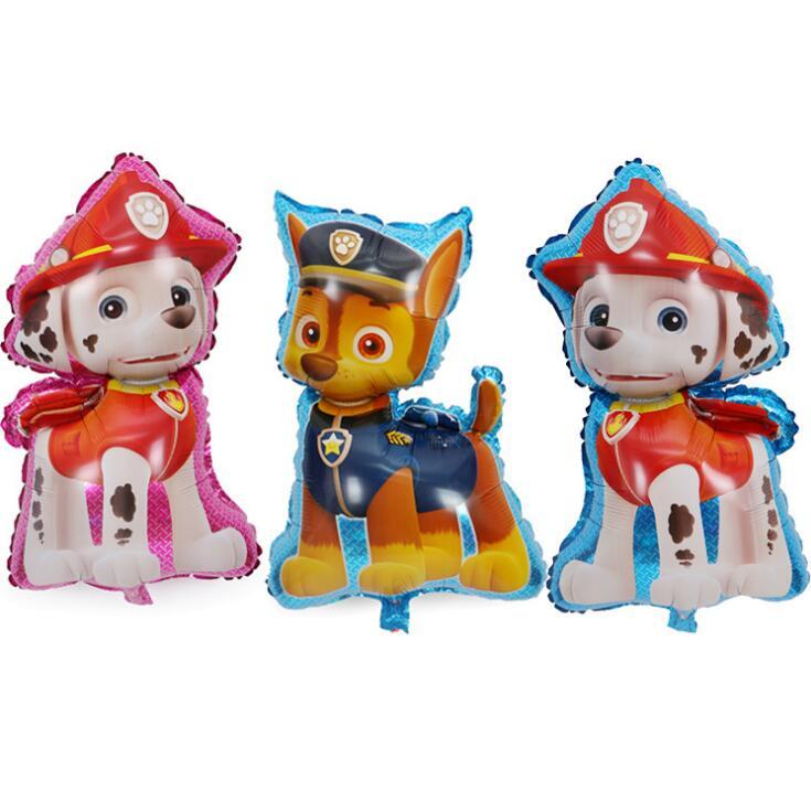 Надувные шары из фольги с героями мультфильма «Щенячий патруль», украшения для вечеринки на день рождения, детские игрушки, погоня Маршалла райдера, собачий патруль