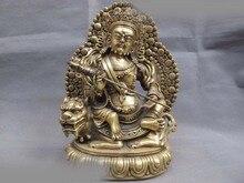 26cm 티베트 불교 사원 구리 청동 Vaishravana 부의 하나님 부처님 동상 SD 506